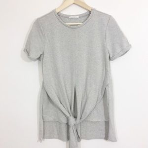 Zara shirt sleeve tie front tunic top
